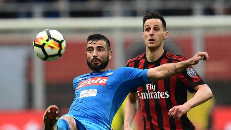"""""""Наполи"""" – """"Милан"""". Фото AFP"""