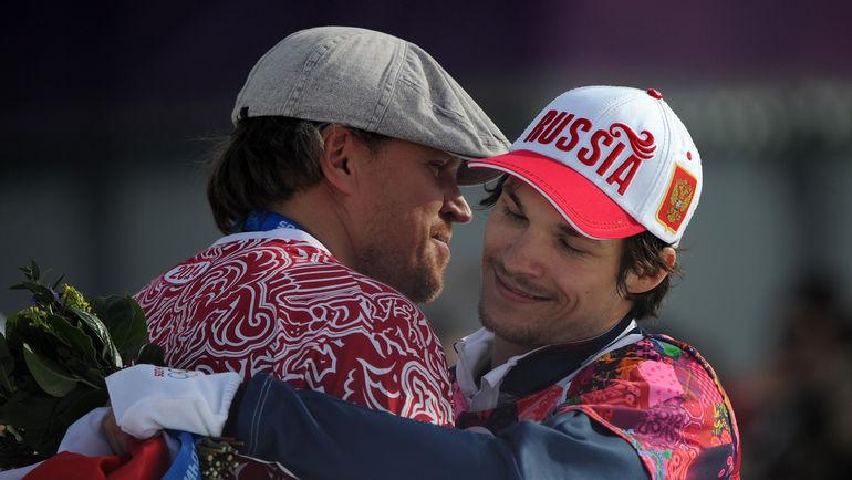"""Денис ТИХОМИРОВ (слева) и Вик ВАЙЛД. Фото Федор УСПЕНСКИЙ, """"СЭ"""""""