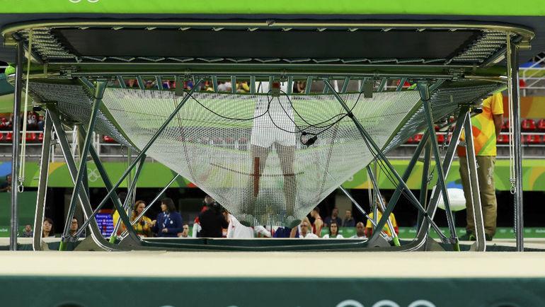 Соревнования на батуте на Олимпиаде-2016 в Рио-де-Жанейро. Фото Reuters