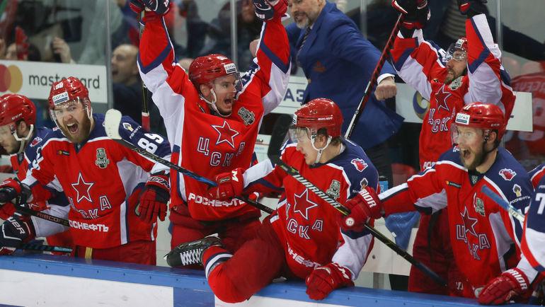 ЦСКА: будут ли новые победы? Фото Андрей ГОЛОВАНОВ, photo.khl.ru