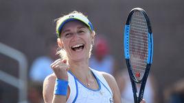 Среда. Нью-Йорк. Екатерина МАКАРОВА празднует победу над Юлией Гергес и выход в третий круг US Open.