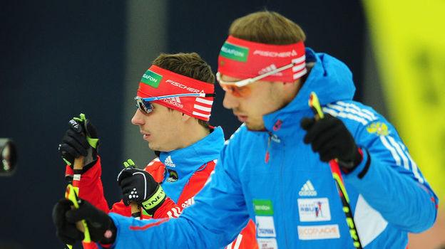 Олимпийские чемпионы Евгений УСТЮГОВ (слева) и Антон ШИПУЛИН. Фото Антон СЕРГИЕНКО