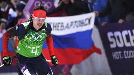 22 февраля 2014 года. Сочи. Евгений УСТЮГОВ на втором этапе золотой эстафеты.