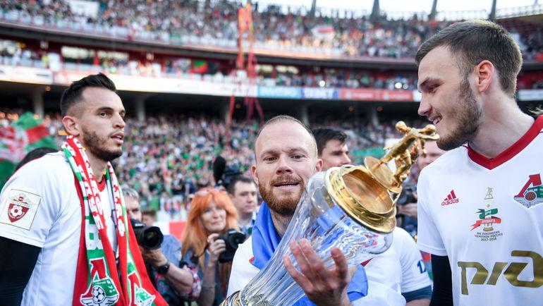 """ГИЛЬЕРМЕ, Виталий ДЕНИСОВ и Никита МЕДВЕДЕВ (слева направо). Фото Дарья ИСАЕВА, """"СЭ"""""""