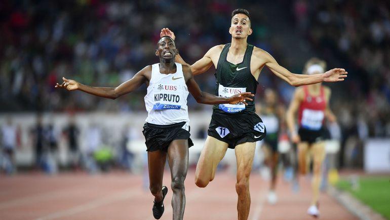 Четверг. Цюрих. Победный финиш Консеслуса КИПРУТО (слева). Фото AFP