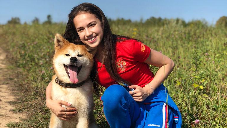 Алина ЗАГИТОВА и ее собака. Фото instagram