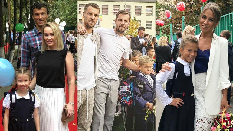 Роман и Марика ЕРЕМЕНКО, братья Комбаровы и Юлия БАРАНОВСКАЯ отвели детей в школу. Фото Instagram.com