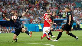 7 июля. Сочи. Россия - Хорватия - 2:2, пенальти - 3:4. Гол Дениса ЧЕРЫШЕВА.