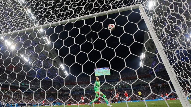 7 июля. Сочи. Россия - Хорватия - 2:2, пенальти - 3:4. Гол Дениса ЧЕРЫШЕВА. Фото Reuters