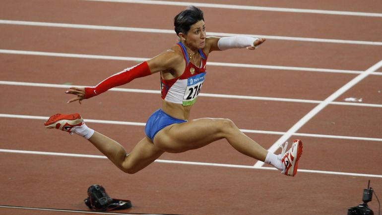 Татьяна ЛЕБЕДЕВА на Олимпиаде-2008. Фото Александр ВИЛЬФ