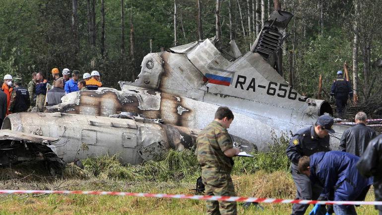 Фото с места авиакатастрофы, в которой погиб Владимир Петтай.