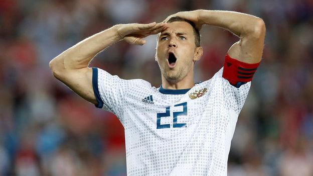 7 сентября. Трабзон. Турция - Россия - 1:2. 49-я минута. Только что Артем Дзюба забил победный гол. Фото AFP