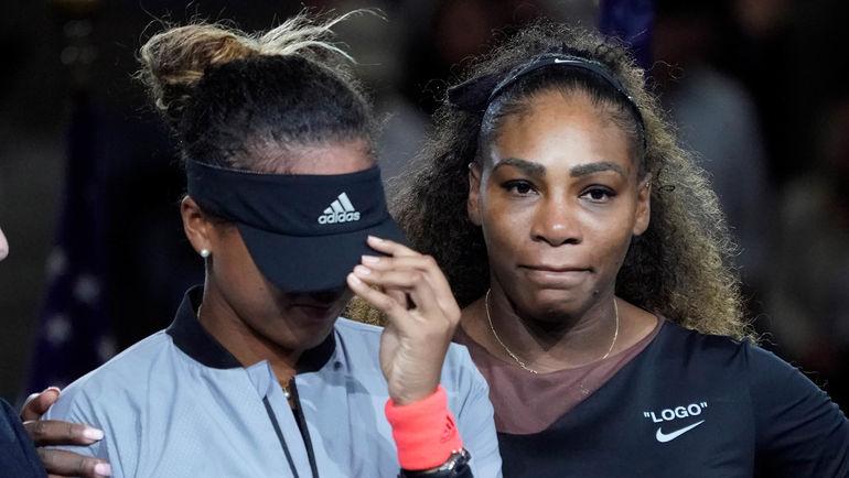 8 сентября. Нью-Йорк. Наоми Осака (слева) обыграла Серену Уильямс в финале US Open. Фото AFP