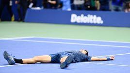 Новак Джокович после победы.