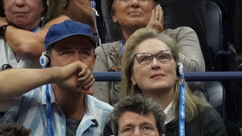 Мерил Стрип на финале US Open. Фото AFP