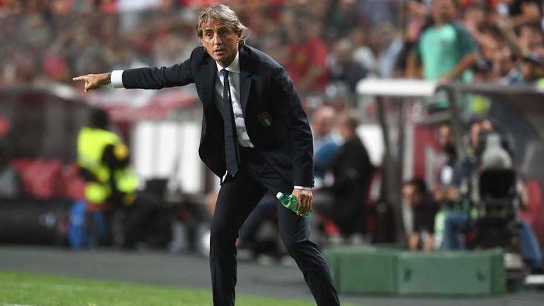 10 сентября. Лиссабон. Португалия - Италия - 1:0. Роберто Манчини. Фото AFP