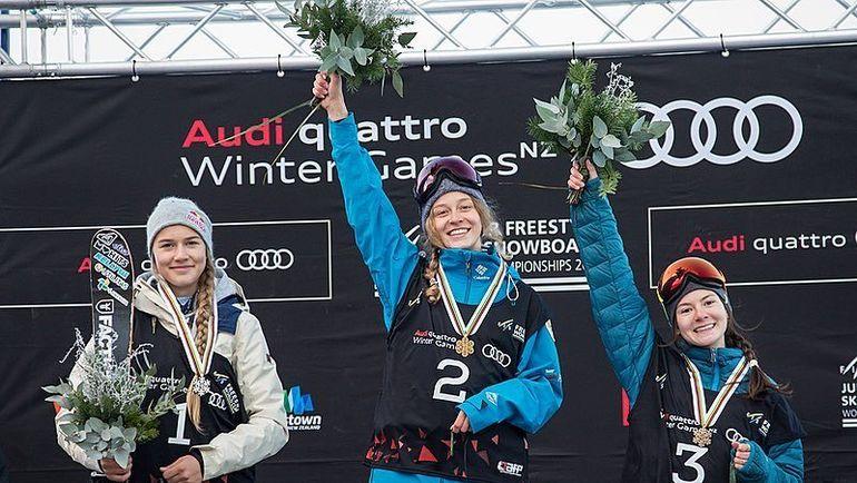 Анастасия Таталина (в центре) и Лана Прусакова (справа) завоевали золото и бронзу чемпионата мира в биг-эйре. Фото Instagram