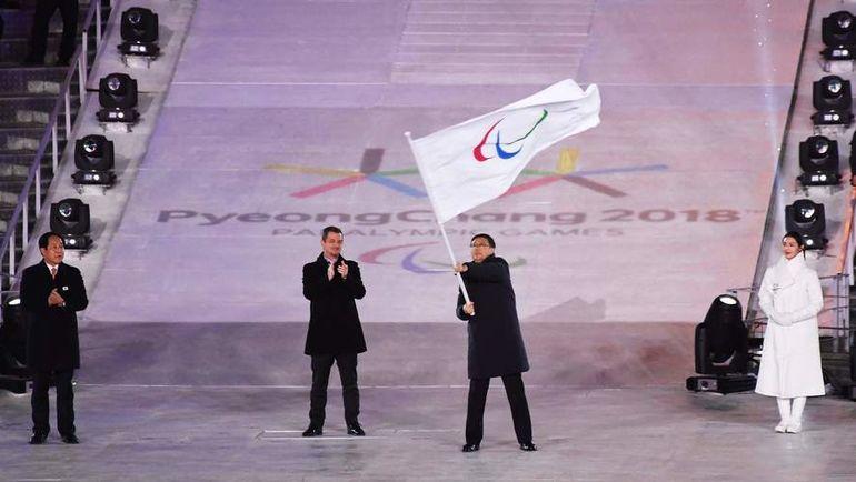 18 марта 2018 года. Пхенчхан. Церемония закрытия Паралимпийский игр. Фото AFP