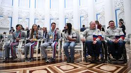11 марта 2018 года. Москва. Встреча паралимпийцев с Президентом России Владимиром Путиным после Паралимпийских Игр в Пхенчхане.