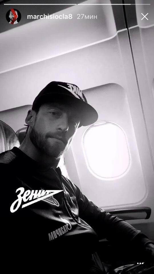 Клаудио Маркизио в Инстаграме сообщил, что летит в Оренбург на игру 7-го тура чемпионата России.