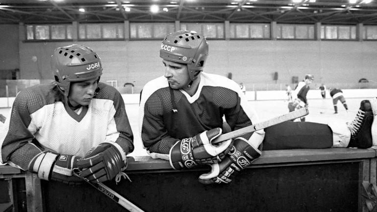 1989 год. Валерий Зелепукин и Алексей Касатонов. Фото Владимир Беззубов, photo.khl.ru