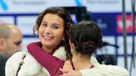 2015 год. Этери Тутберидзе и Евгения Медведева.