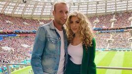Денис и Дарья Глушаковы на матче открытия ЧМ-2018 14 июня. Это последнее совместное фото пары в соцсетях.