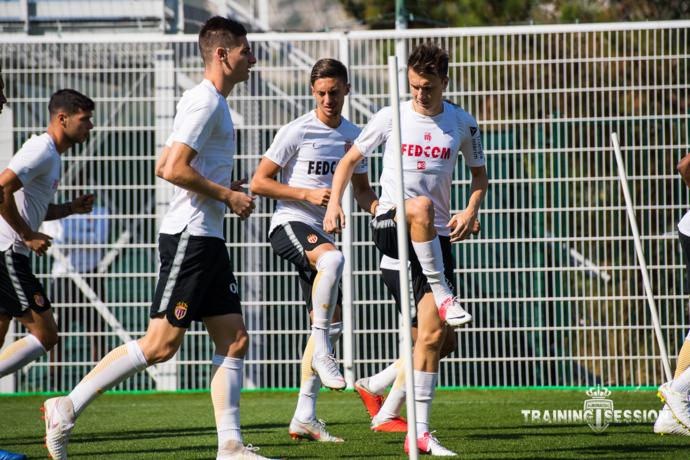 "Александр Головин на тренировке ""Монако"". Фото AS Monaco"