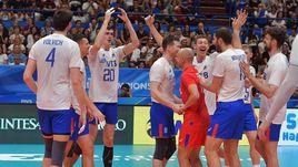 Волейболисты сборной России.