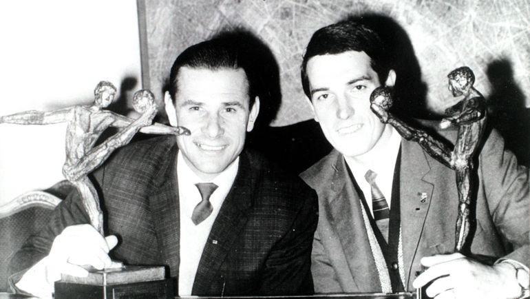 Валерий Воронин (справа) и Лев Яшин. Фото Федор Алексеев