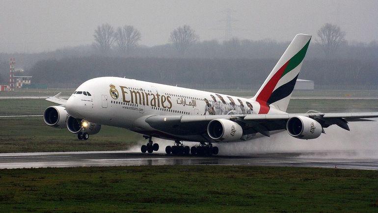 "Самолет ""Реала"" – Airbus A380 компании Emirates. Фото Pixabay"