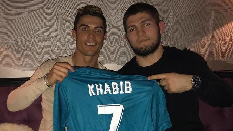 Хабиб Нурмагомедов и Криштиану Роналду. Фото instagram.com