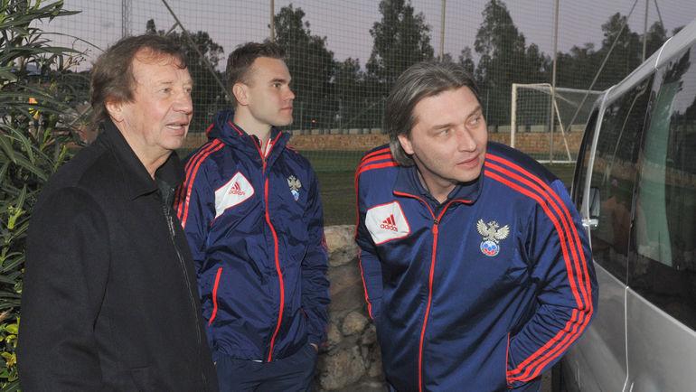 2013-й год. Юрий Семин, Игорь Акинфеев и Сергей Овчинников (слева направо). Фото Александр Федоров, «СЭ»