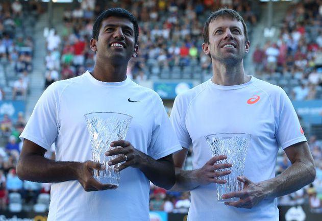 Теннисисты Рохан БОПАННА и Даниэль НЕСТОР Фото AFP