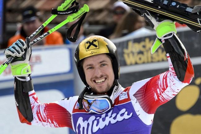 Австрийский горнолыжник Марсель ХИРШЕР Фото AFP