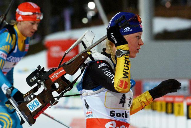 Немецкая биатлонистка Мириам ГЕССНЕР Фото AFP