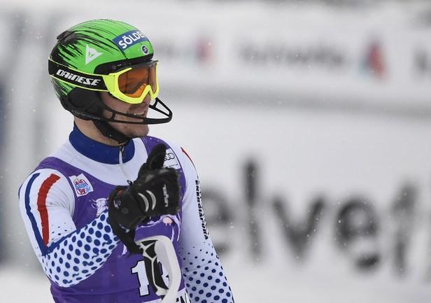 Российский горнолыжник Александр ХОРОШИЛОВ Фото AFP