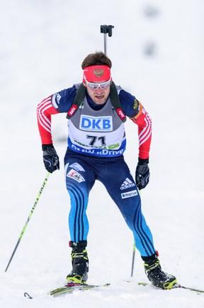 Российский биатлонист Евгений ГАРАНИЧЕВ Фото AFP