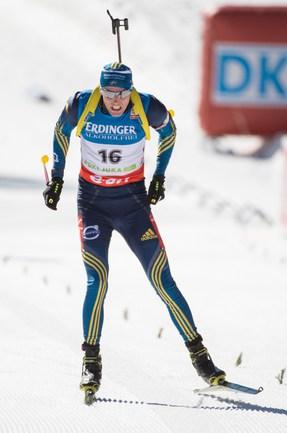 Российский биатлонист Дмитрий МАЛЫШКО Фото AFP