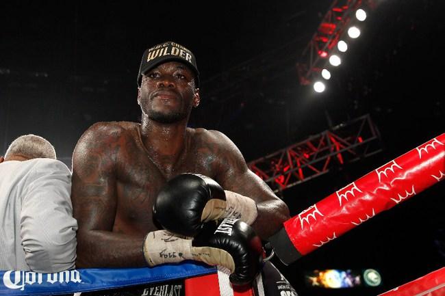 Американский боксер Деонтей УАЙЛДЕР Фото AFP