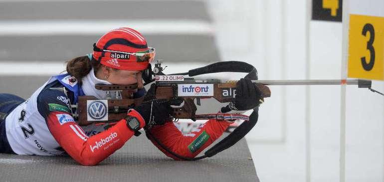 Российская биатлонистка Дарья ВИРОЛАЙНЕН Фото AFP