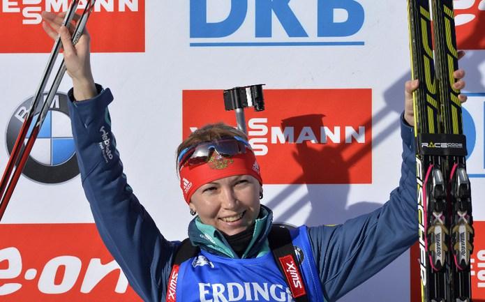 Российская биатлонистка Екатерина ГЛАЗЫРИНА Фото AFP
