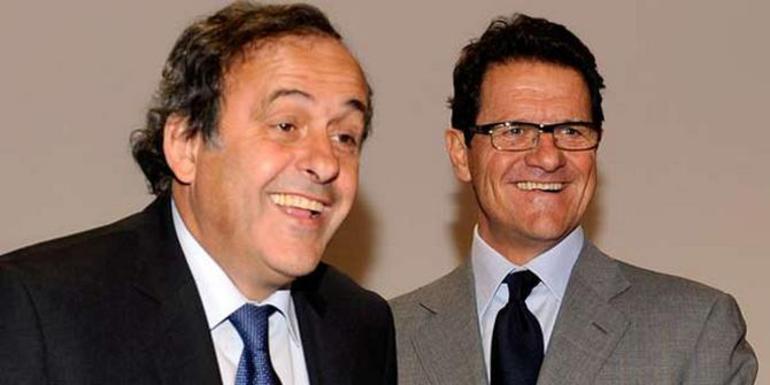 Мишель ПЛАТИНИ (слева) и Фабио КАПЕЛЛО Фото Reuters
