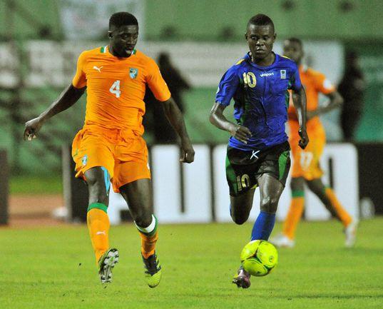 Нападающий сборной Танзании Мбвана САМАТТА. Фото AFP