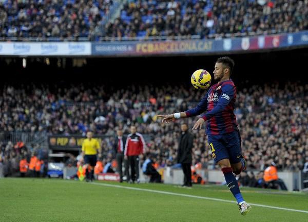 """Нападающий """"Барселоны"""" НЕЙМАР Фото AFP"""