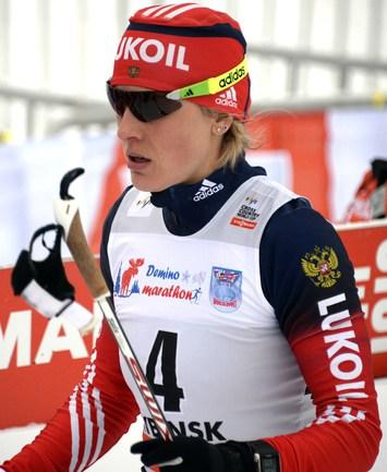 Российская лыжница Наталья МАТВЕЕВА Фото AFP