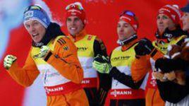 Немцы одержали победу в эстафете на чемпионате мира