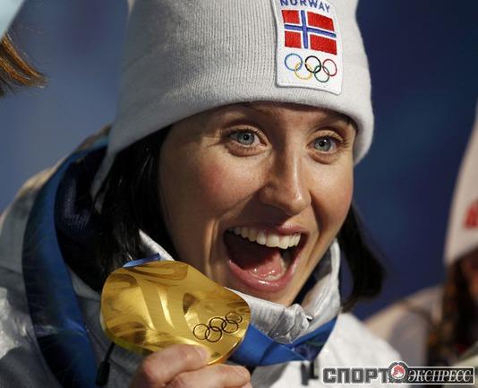 Марит БЬОРГЕН (Норвгия). Лыжи. Индивидуальный спринт. Фото Reuters