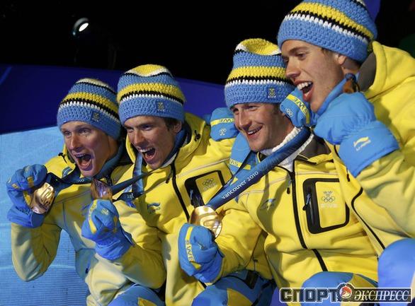 ШВЕЦИЯ. Лыжи. Эстафета . Фото Reuters