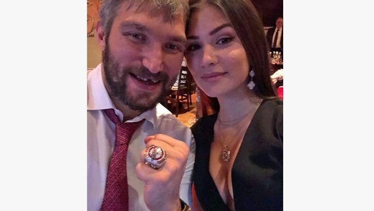Александр Овечкин со своей женой Анастасией. Фото Инстаграм Анастасии Овечкиной